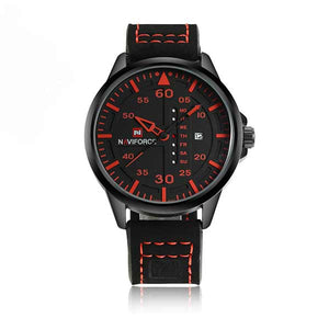 Naviforce 9074 Mens Leather Watch