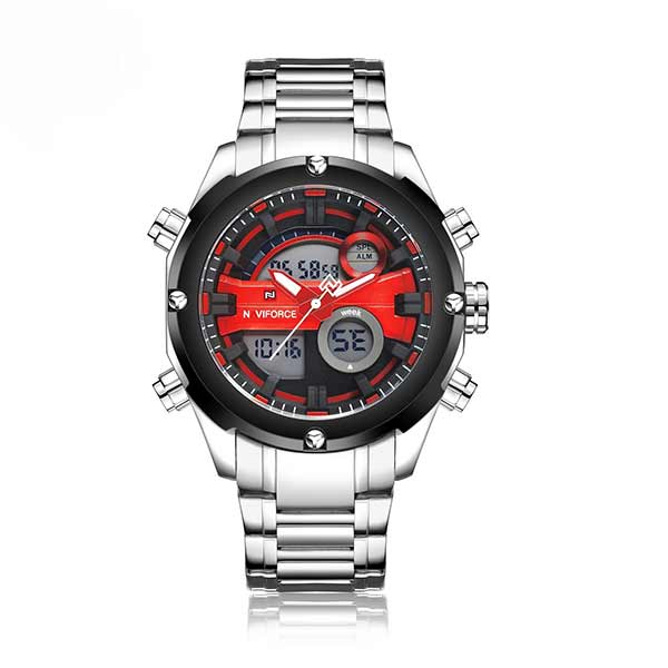 Naviforce 9088 Mens Stainless Steel Watch