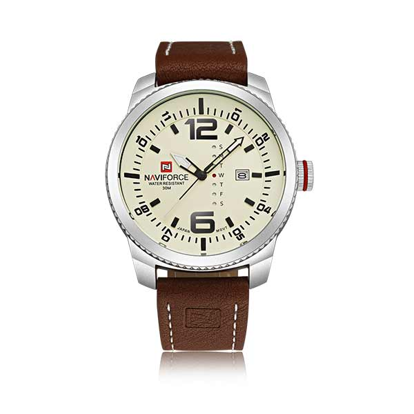 Naviforce 9063 Mens Leather Watch