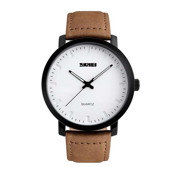 SKMEI 1196 Mens Leather Watch