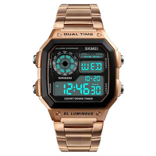 SKMEI 1335 Unisex Digital Stainless Steel Watch
