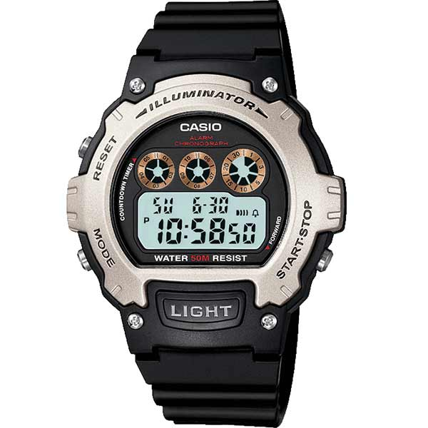 Casio W-214H-1AVEF Digital Mens Resin