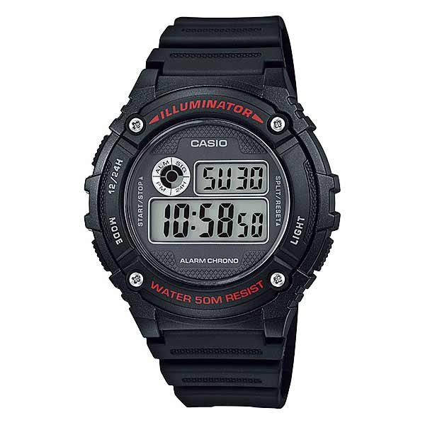 Casio W-216H-1AVDF Digital Mens Resin
