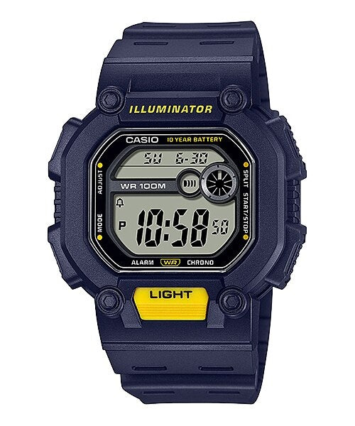 Casio W-737H-2AVDF Digital Mens Resin 100m