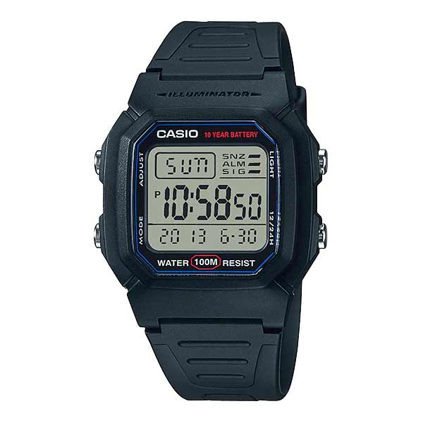 Casio W-800H-1AVDF Dual Display Mens Resin