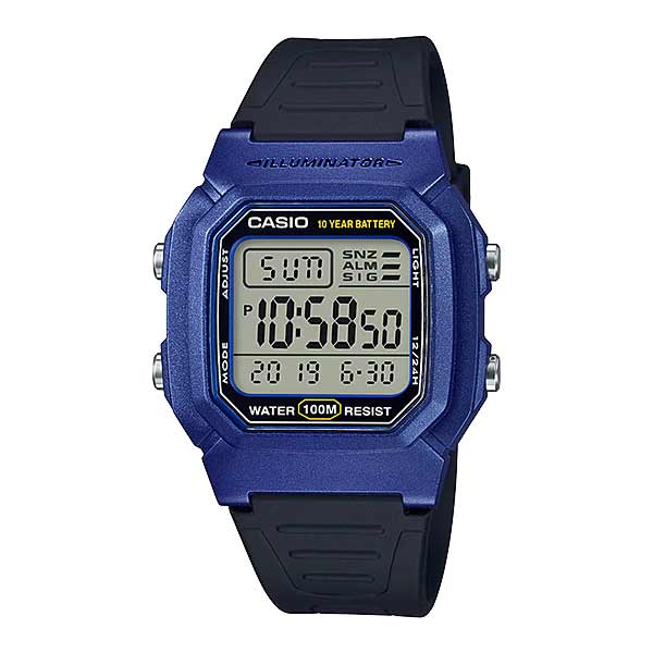 Casio W-800HM-2AVDF Dual Display Mens Resin