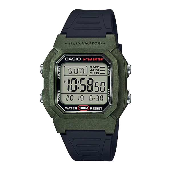 Casio W-800HM-3AVDF Dual Display Mens Resin