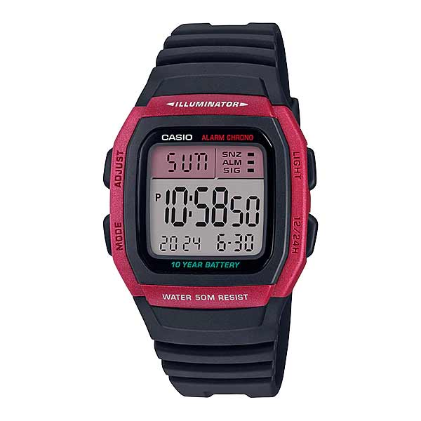 Casio W-96H-4AVDF Dual Display Mens Resin