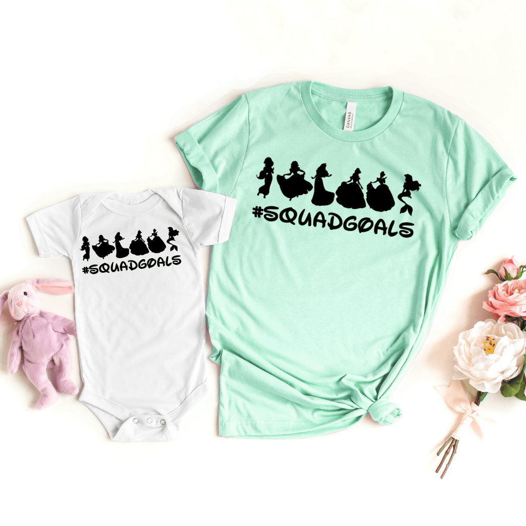 Disney Squad Goals Shirt, Mommy and Me shirts, Disney Clubhouse Shirts, Disney Family Shirts, Squad Goals Shirt, Family Disney T-shirt, Matching Family Disney, Heather Prism Mint
