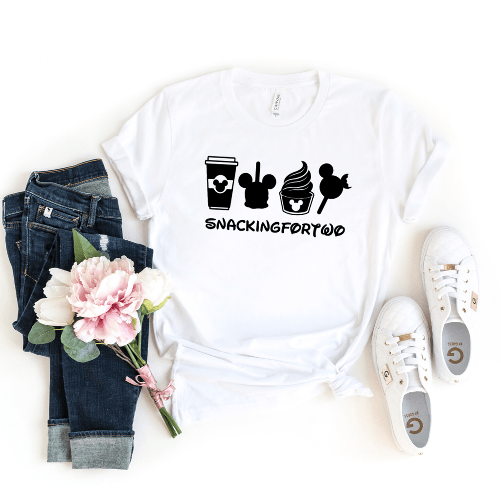 Snacking For Two, Shirt,Snack Goals, Disney Shirts, Disney Shirt, Disney World, Disneyland,Disney Vacation,Disney Shirts For Women,Mickey Mouse