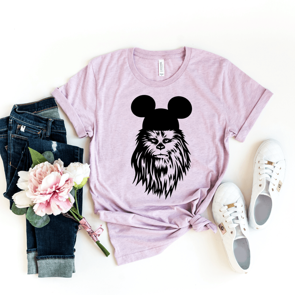 Chewbacca shirt, galaxy's edge shirt, Disney Shirt, Star Wars Disney Shirts, Family Disney Shirts, Star Wars Shirt, galaxy edge shirt, Heather Prism Lilac