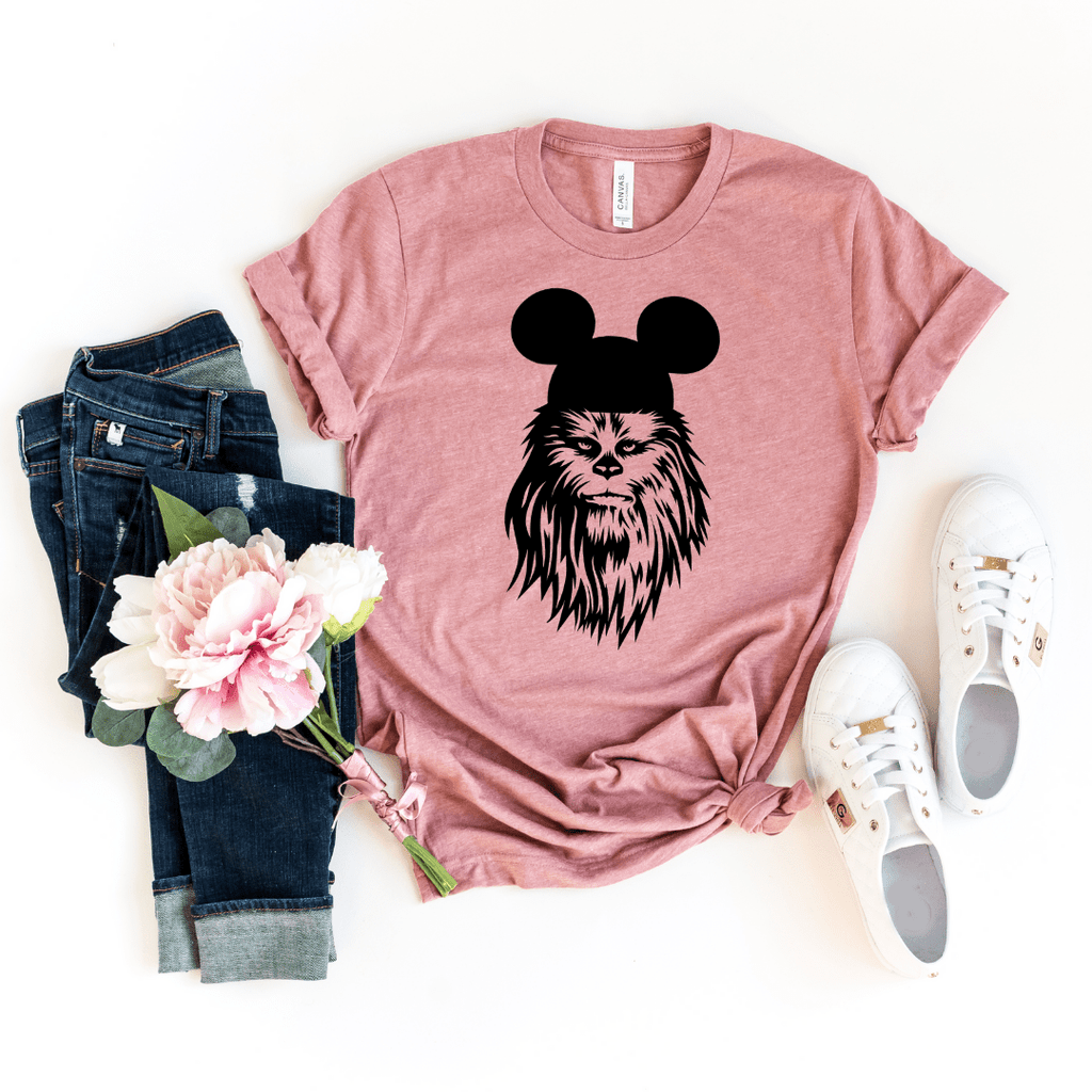 Chewbacca shirt, galaxy's edge shirt, Disney Shirt, Star Wars Disney Shirts, Family Disney Shirts, Star Wars Shirt, galaxy edge shirt, Heather Mauve