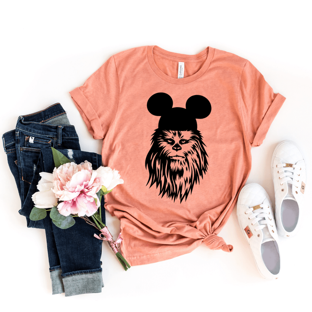 Chewbacca shirt, galaxy's edge shirt, Disney Shirt, Star Wars Disney Shirts, Family Disney Shirts, Star Wars Shirt, galaxy edge shirt, Heather Prism Sunset