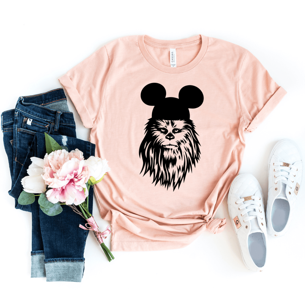 Chewbacca shirt, galaxy's edge shirt, Disney Shirt, Star Wars Disney Shirts, Family Disney Shirts, Star Wars Shirt, galaxy edge shirt, Heather Peach