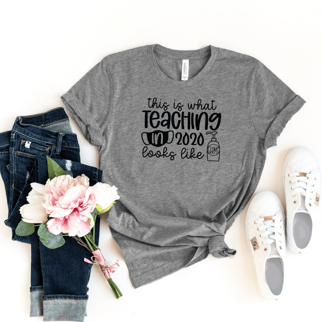 This is what Teaching in 2020 Looks Like Shirt Teacher 2020 Teaching Life shirt Mask Hand Sanitizer shirt Back to School 2020 shirt