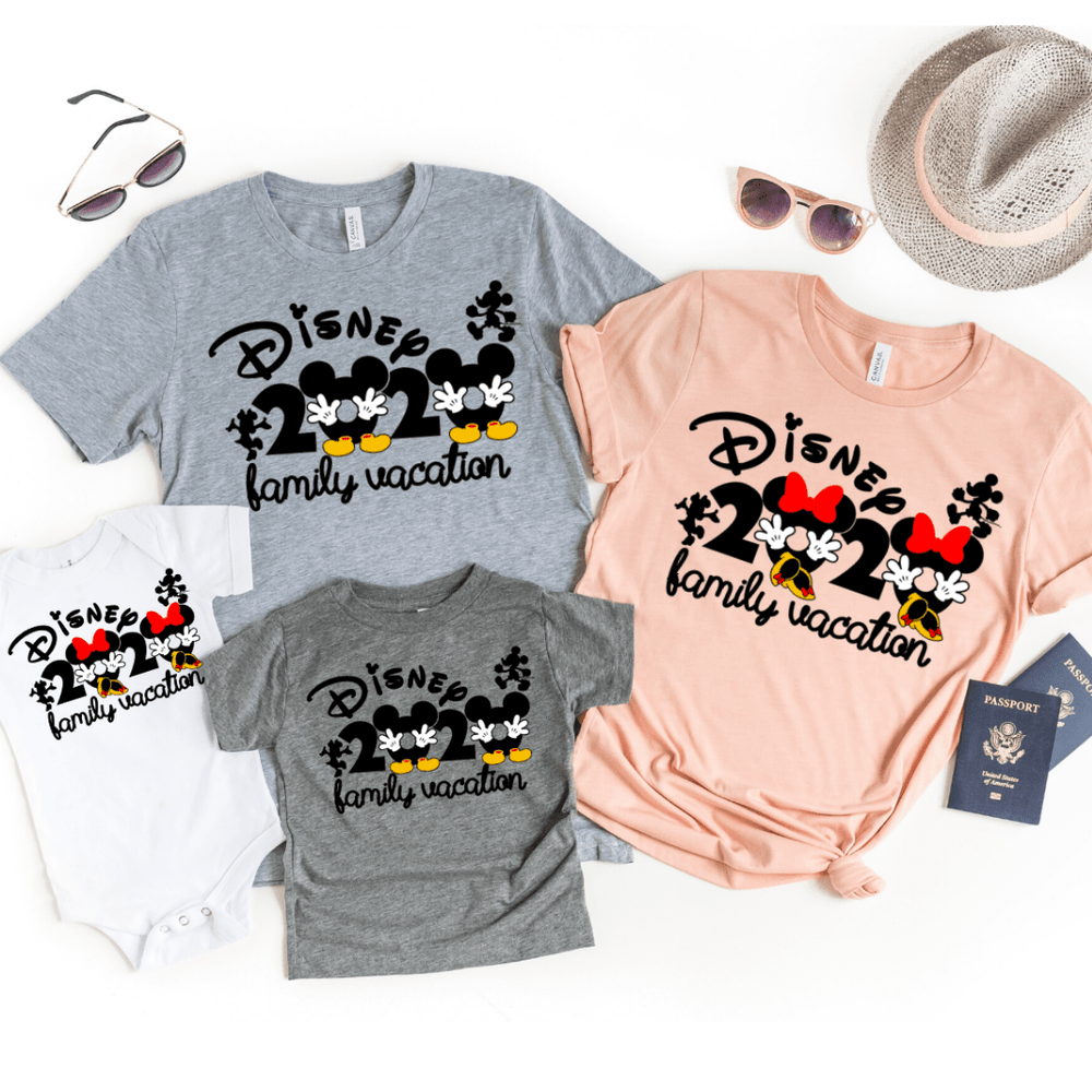 Disney 2020 family Vacation matching shirts, Disney Matching shirts, Disney shirts 2020, Disney Trip shirts with Mickey and Minnie