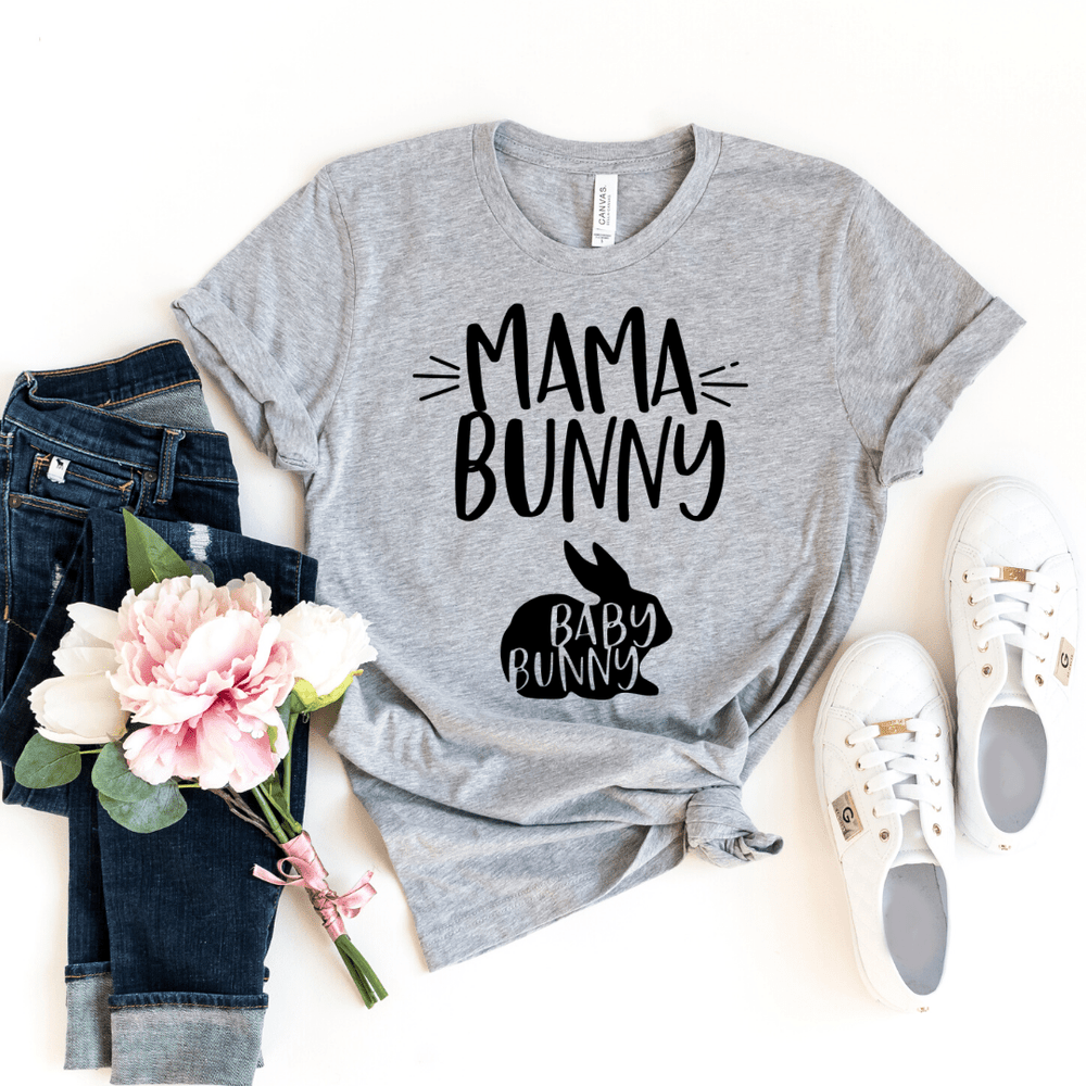 Mama Bunny and Baby Bunny Funny Easter Pregnancy Shirt, Mom to be, Pregnancy Unisex Baby Shower Gift, Pregnancy and Mommy to be Outfit
