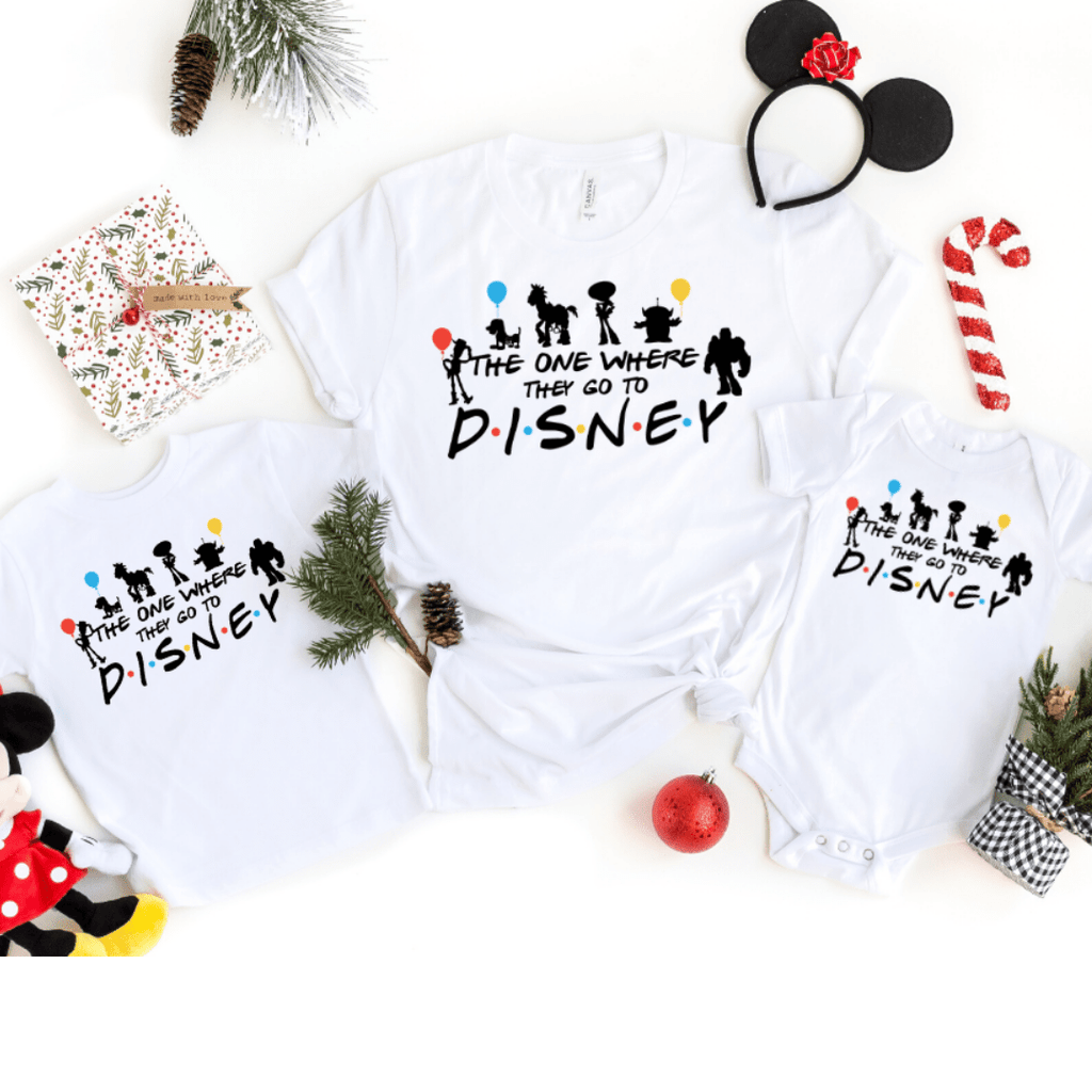Disney Friends Inspired shirts The One Where they got to Disney Matching Shirts, Disney Characters shirts, Disney family matching Shirts