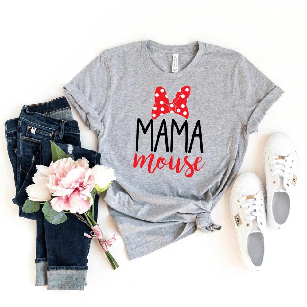 Mommy and me Disney shirts Outfits, Disney Family Shirts, Mama Mouse Mini Mouse Papa Mouse Matching Shirt Set, Matching Vacation Shirts Set