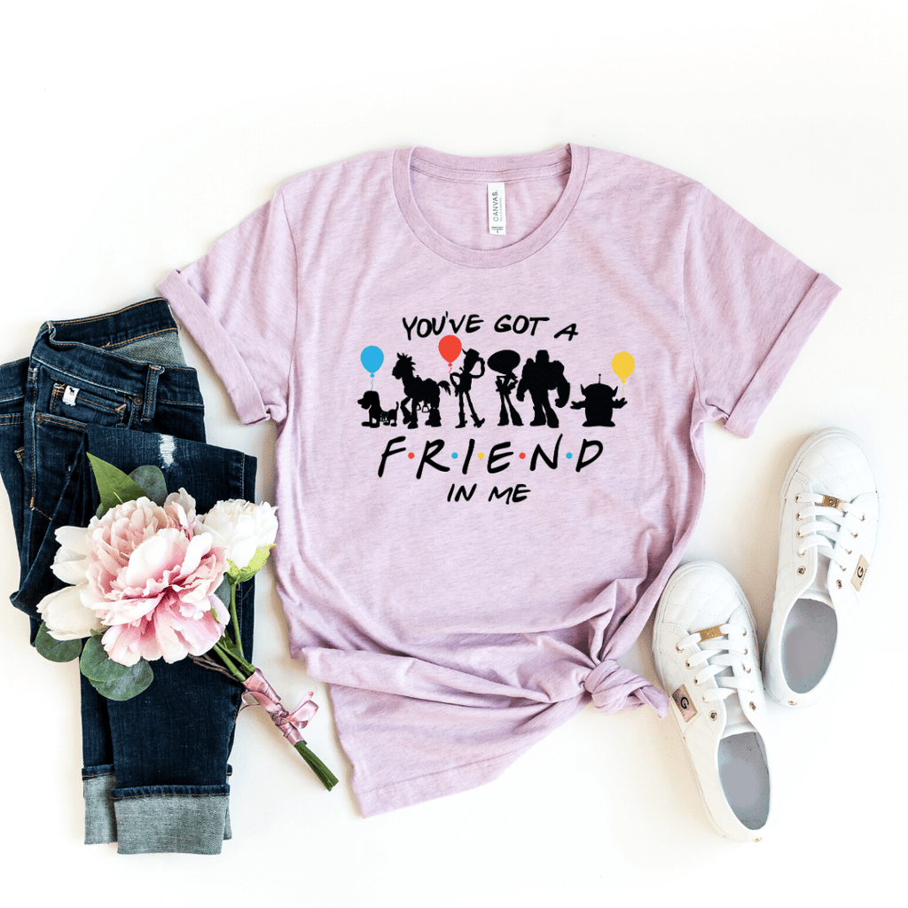 You've got a friend in me Toy Story shirt , Disney Shirt for Women, Disney Family Shirt, Matching T Shirts, Friends Mash up, Heather Prism Lilac