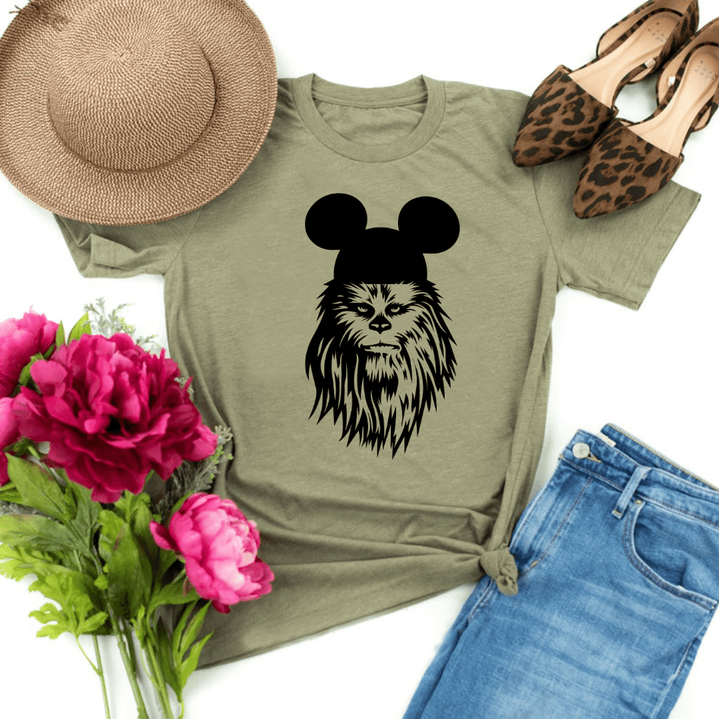 Chewbacca shirt, galaxy's edge shirt, Disney Shirt, Star Wars Disney Shirts, Family Disney Shirts, Star Wars Shirt, galaxy edge shirt, Heather Olive