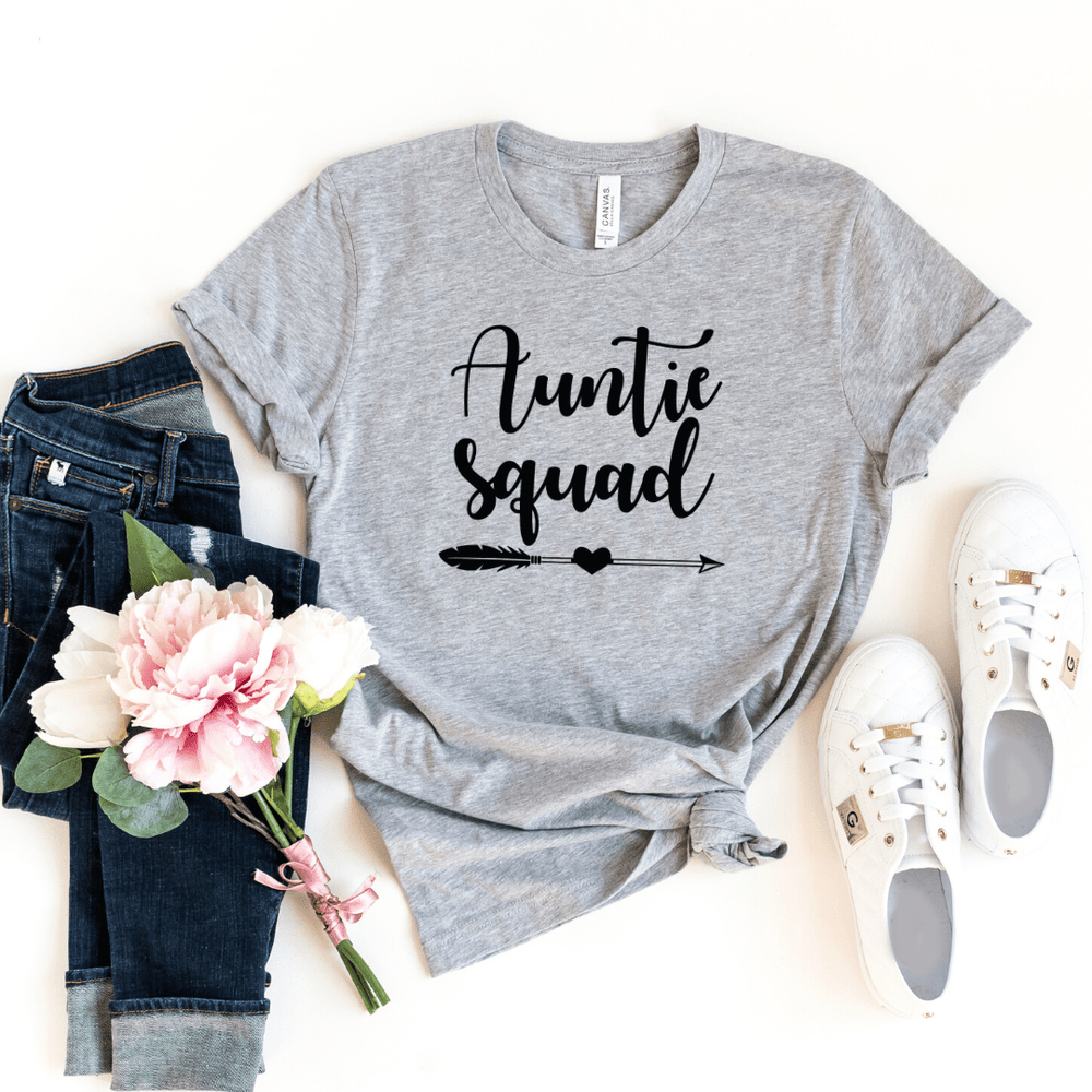 Auntie Squad Funny Auntie Shirt Auntie T-shirt Auntie Gift Funny Aunt Mother's Day Gift Birthday Gift Pregnancy Announcement Baby Shower