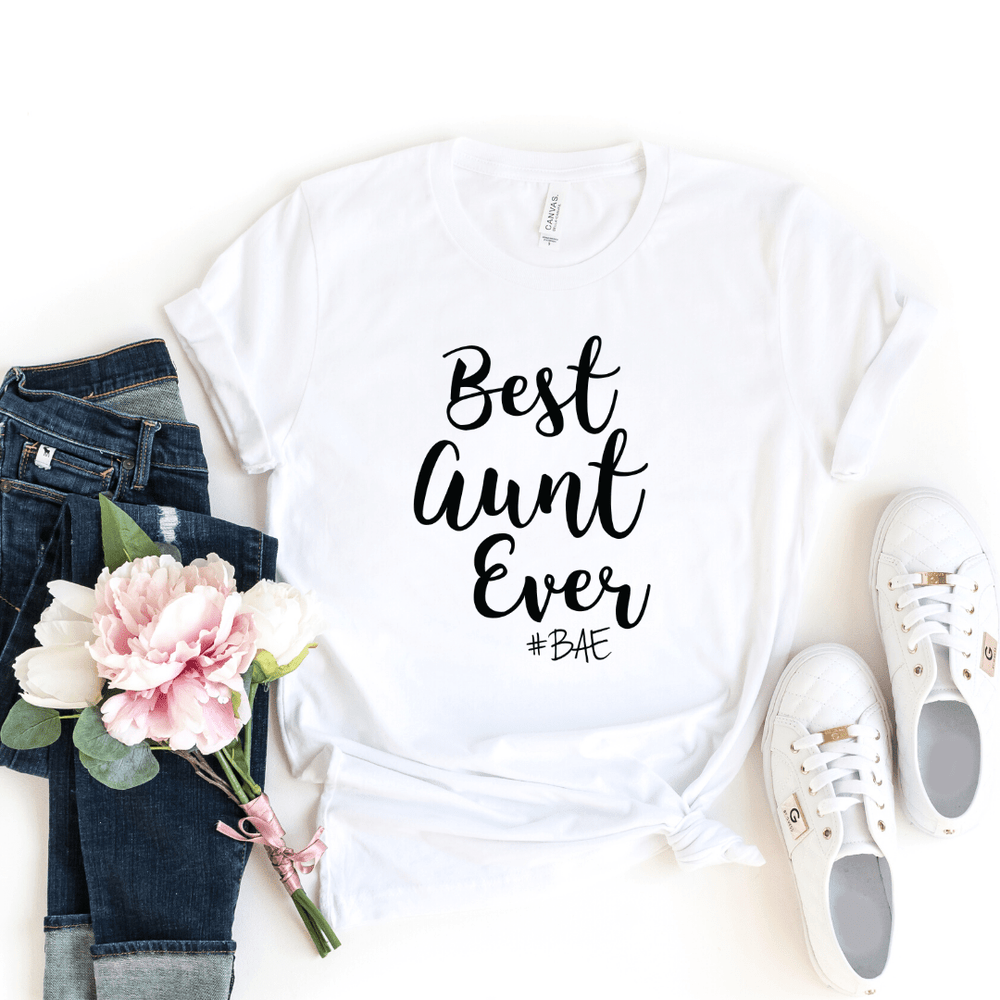 BAE Best Aunt Ever Shirt, Aunt Shirt, New Aunt, Christmas Gift for Aunt, Auntie, Aunt To Be Shirt, Favorite Aunt, Like a Mom Only Cooler