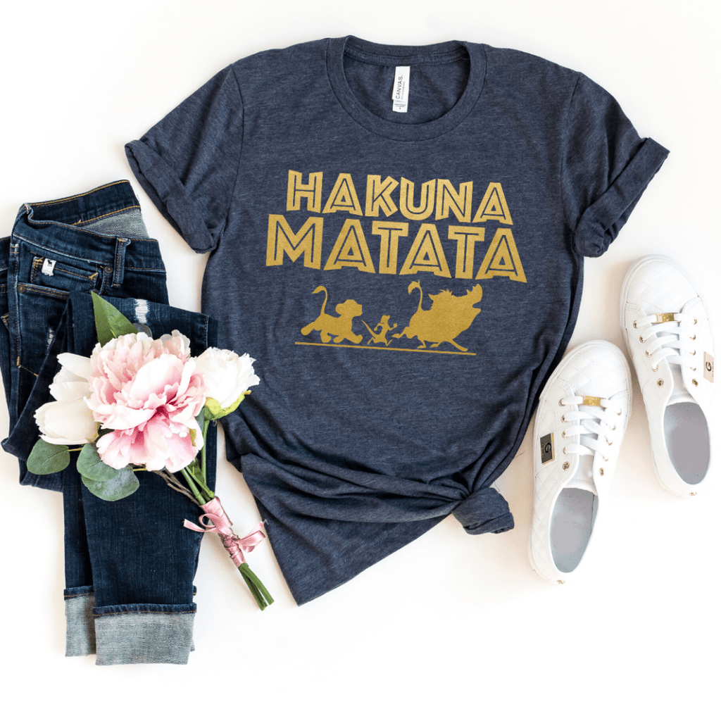 Disney Shirts, Hakuna Matata Shirt, Disney Shirts For Women, Disney Tank Top, Disney Animal Kingdom Shirt, Disney Family Shirts, Disney Tank, Heather Navy