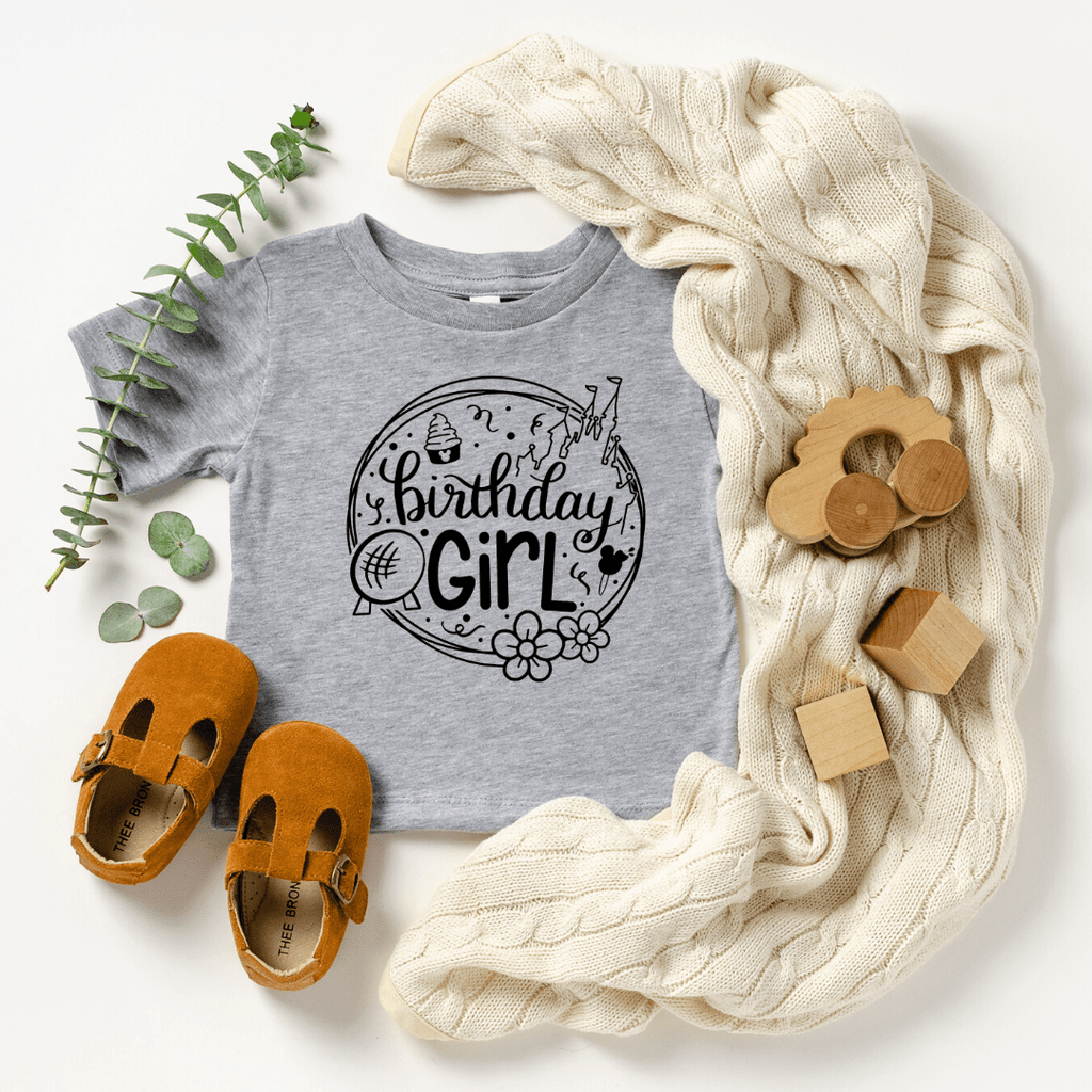 Birthday Girl Disney Shirt, Disney Birthday Shirt, Toddler Shirt & Baby Bodysuit, birthday shirts girl, birthday squad shirts
