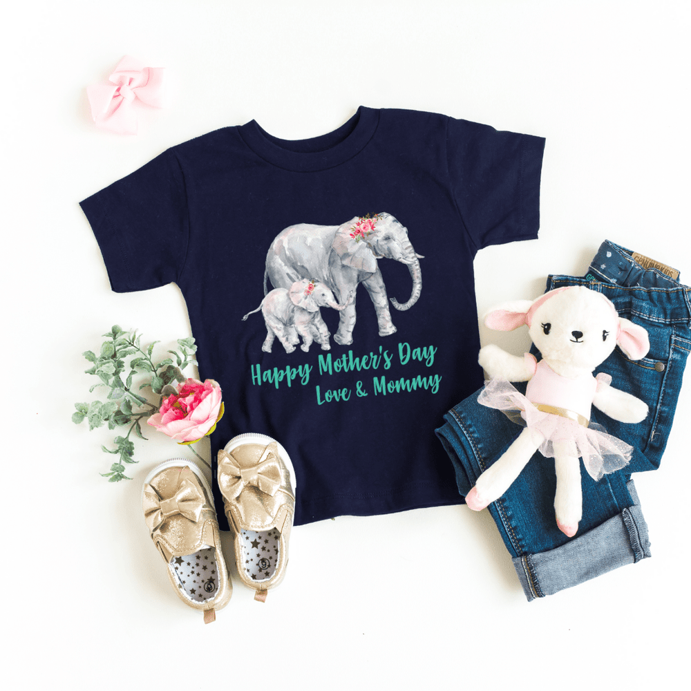 Our First Mothers Day Shirts, Mommy & Me T-Shirts, Matching Mom and Baby Bodysuit, Mother Day Shirt, Baby and Mama Elephant, Mommy and Me Shirt Set Mama Elephant Baby Shirts Mother and Daughter Shirts,  Mothers Day Gift Mommy and Me Outfits, Navy