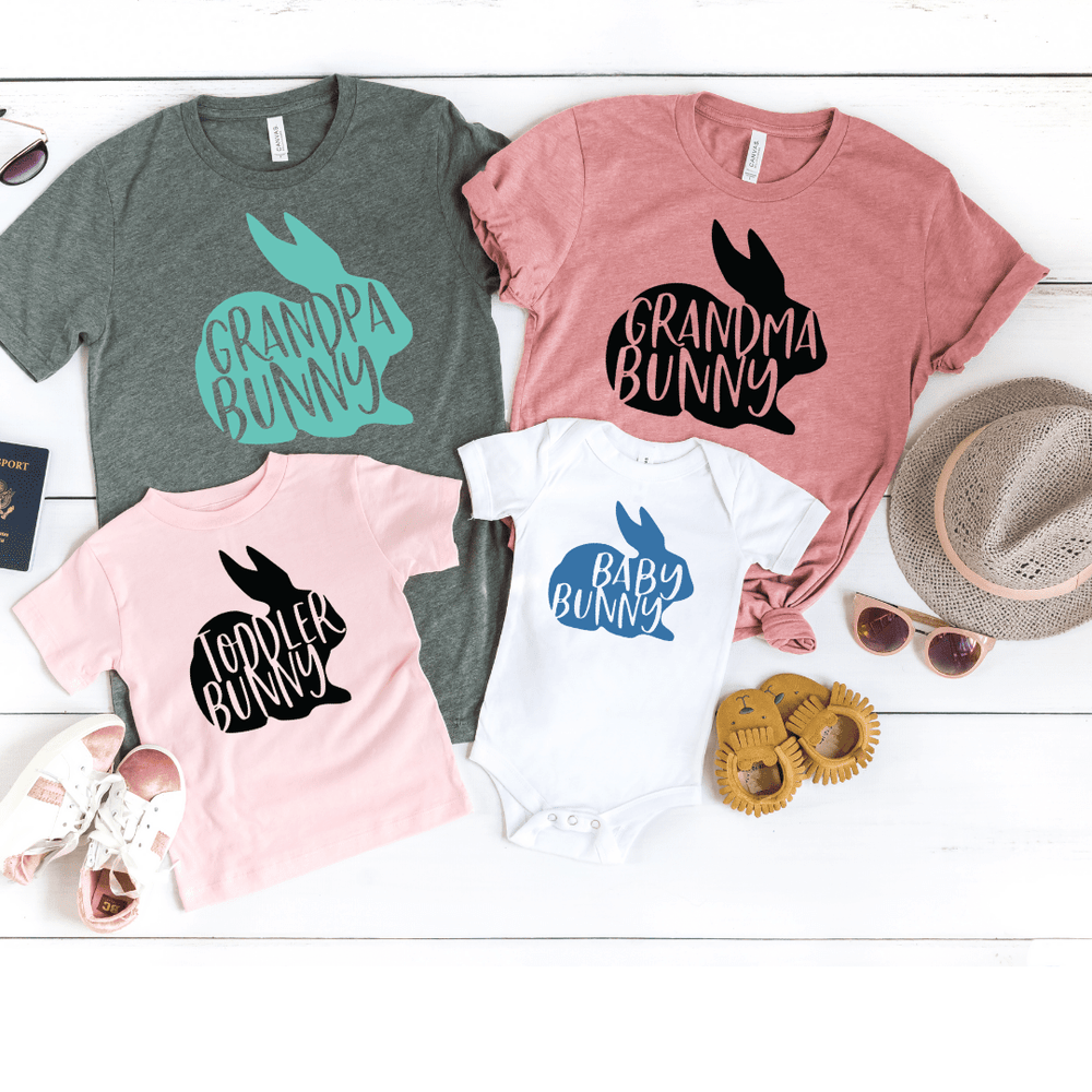 Family Matching Easter Shirts Mommy and Me Outfits Easter Girl Easter Shirt Baby Toddler Mom Dad Bunny Matching Shirts Mommy and Me for Easter, Deep Gray