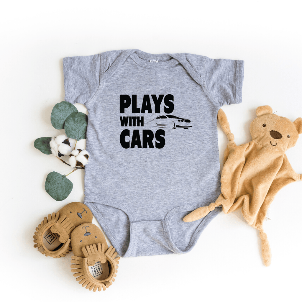 Plays With Cars Still Plays With Cars Shirt Father Dad Baby Shirt Set Daddy and Me Matching Shirts Dad and Son Cars Matching T-shirts