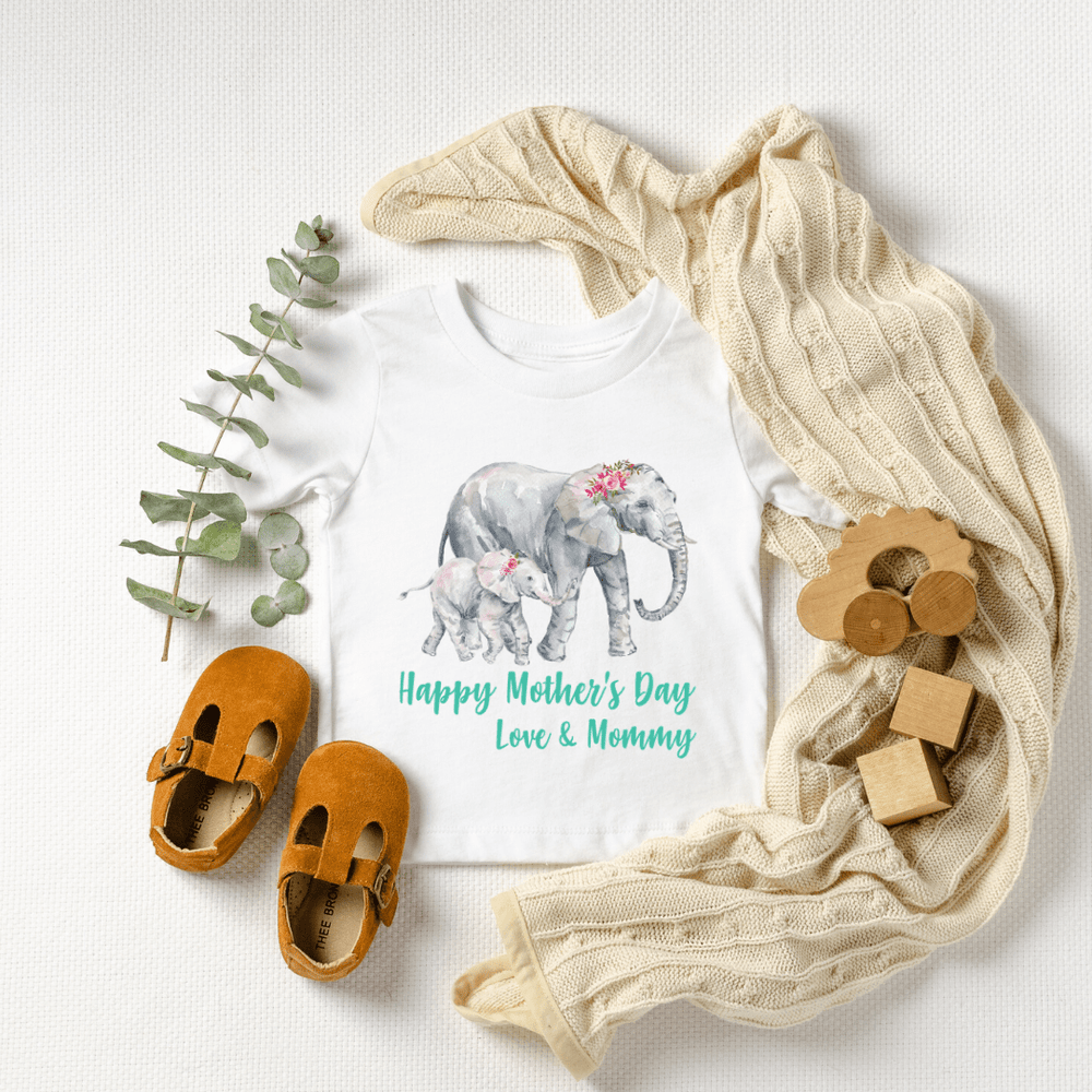 Our First Mothers Day Shirts, Mommy & Me T-Shirts, Matching Mom and Baby Bodysuit, Mother Day Shirt, Baby and Mama Elephant, Mommy and Me Shirt Set Mama Elephant Baby Shirts Mother and Daughter Shirts,  Mothers Day Gift Mommy and Me Outfits, White
