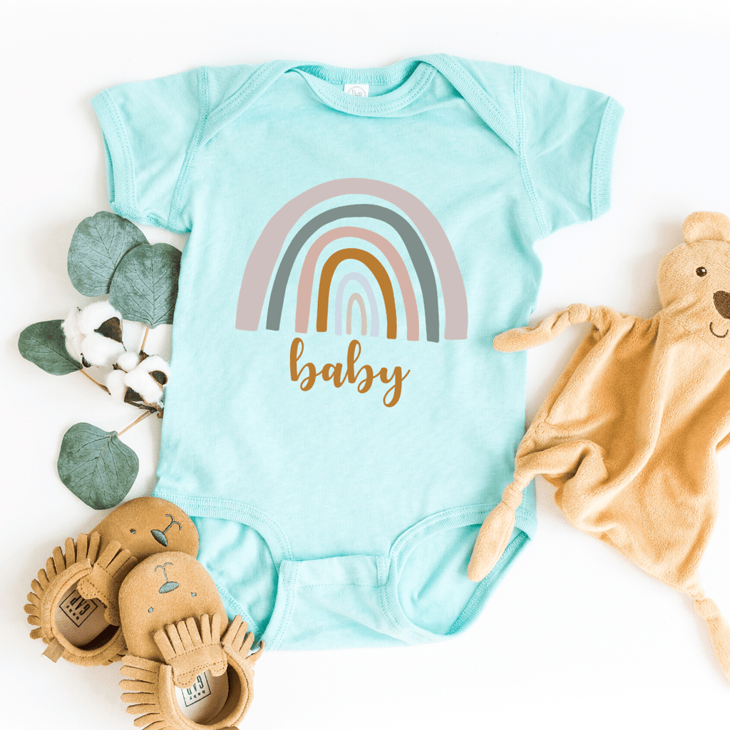 Rainbow Mommy and Me Shirt Rainbow Baby Bodysuit Mama Shirt Rainbow Mom Shirt Neutral Rainbow Tee Mother's Day Shirt Gift, Chill