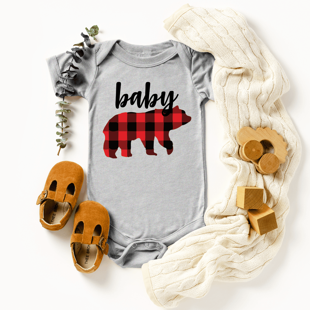 Christmas Family Mama Bear Baby Bear Matching Shirts buffalo plaid Christmas Gift Matching Mommy and Me Shirts Outfits Family Shirts