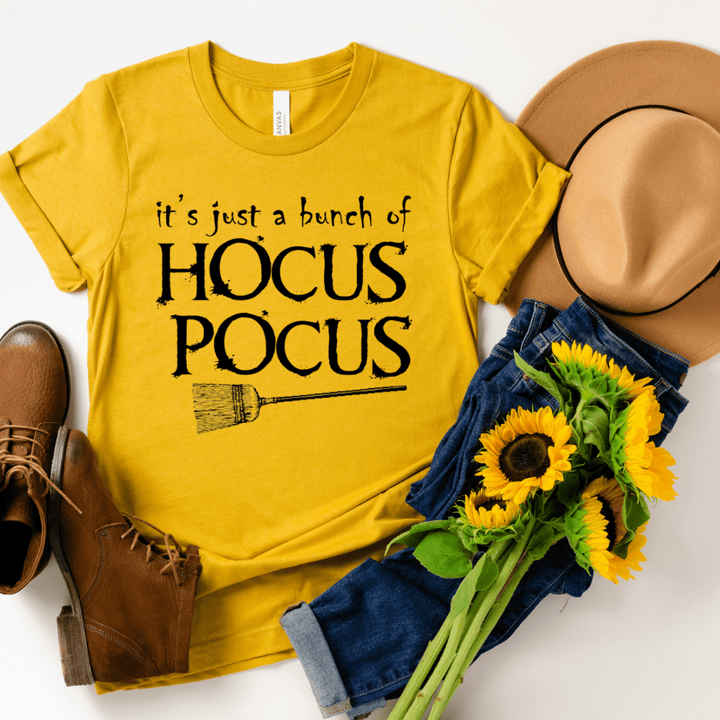 Its Just A Bunch Of Hocus Pocus Shirt Halloween Shirt Hocus Pocus Tshirt Halloween Tshirt Fall Shirts