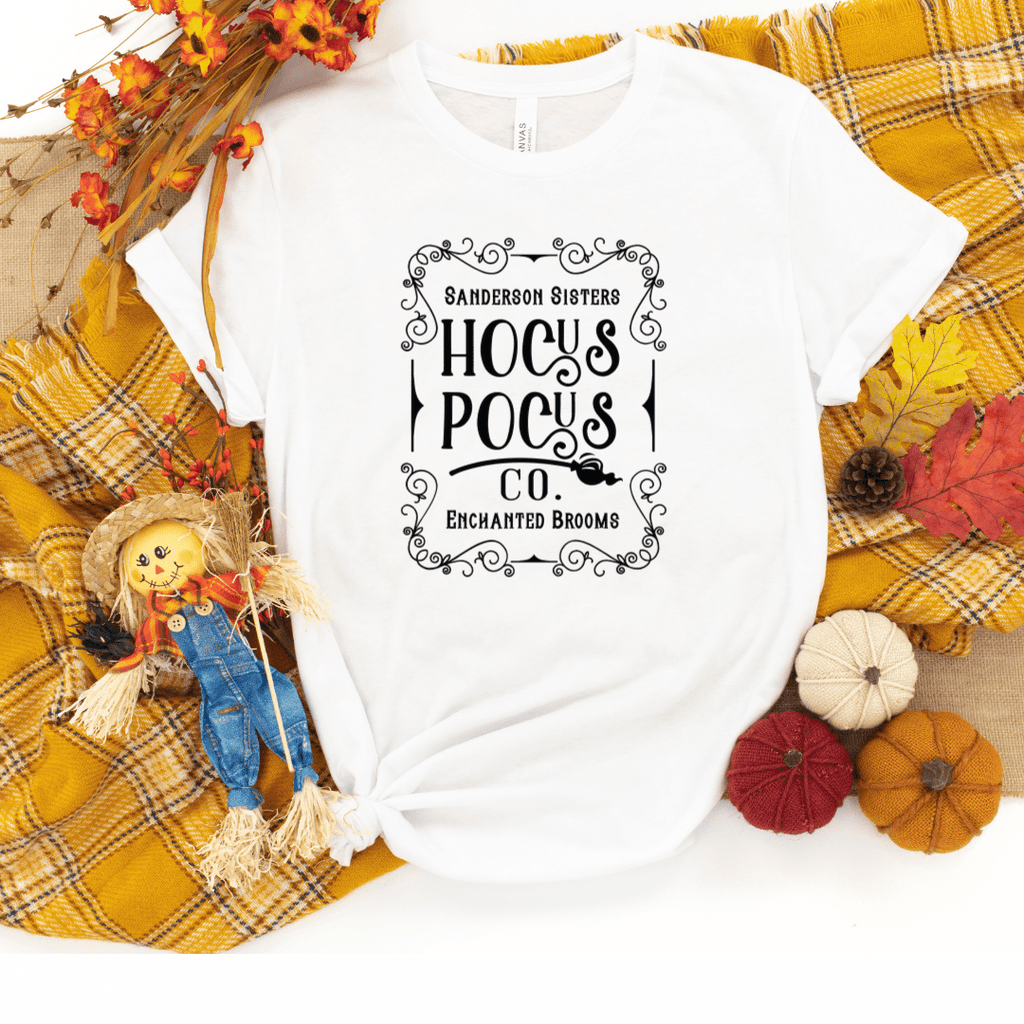 Hocus Pocus Co Shirt Halloween Shirts Hocus Pocus T-shirts Halloween T-shirt For Women Sanderson Sister Shirt, White