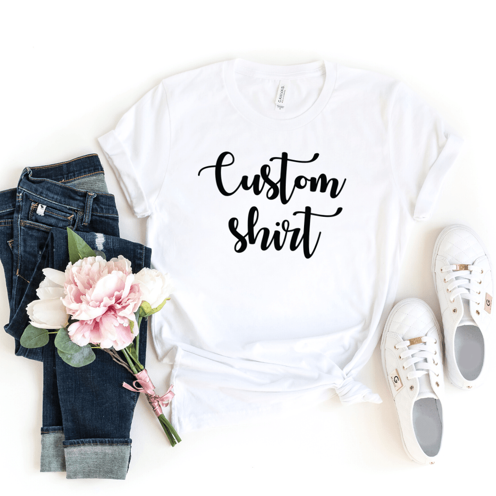 Custom Shirt, Custom Shirts, Custom T-shirt, Personalized T-shirt, Family T-shirt, Family Shirt, Personalized Shirt, Matching Family Shirt, White