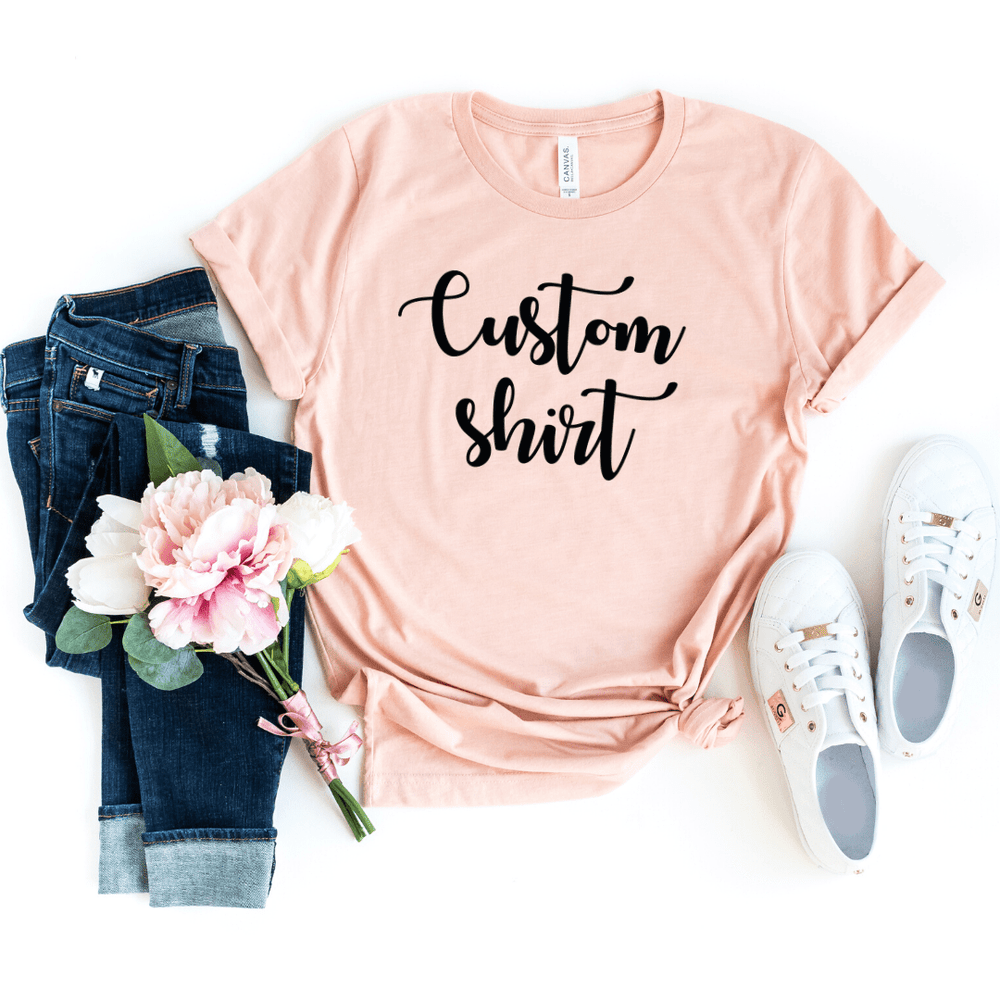 Custom Shirt, Custom Shirts, Custom T-shirt, Personalized T-shirt, Family T-shirt, Family Shirt, Personalized Shirt, Matching Family Shirt, Heather Peach