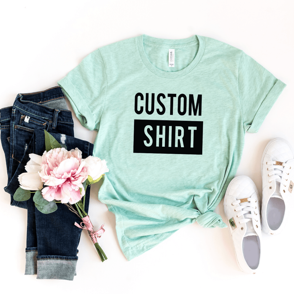 Custom Shirt, Custom Shirts, Custom T-shirt, Personalized T-shirt, Family T-shirt, Family Shirt, Personalized Shirt, Matching Family Shirt, Heather Prism Mint