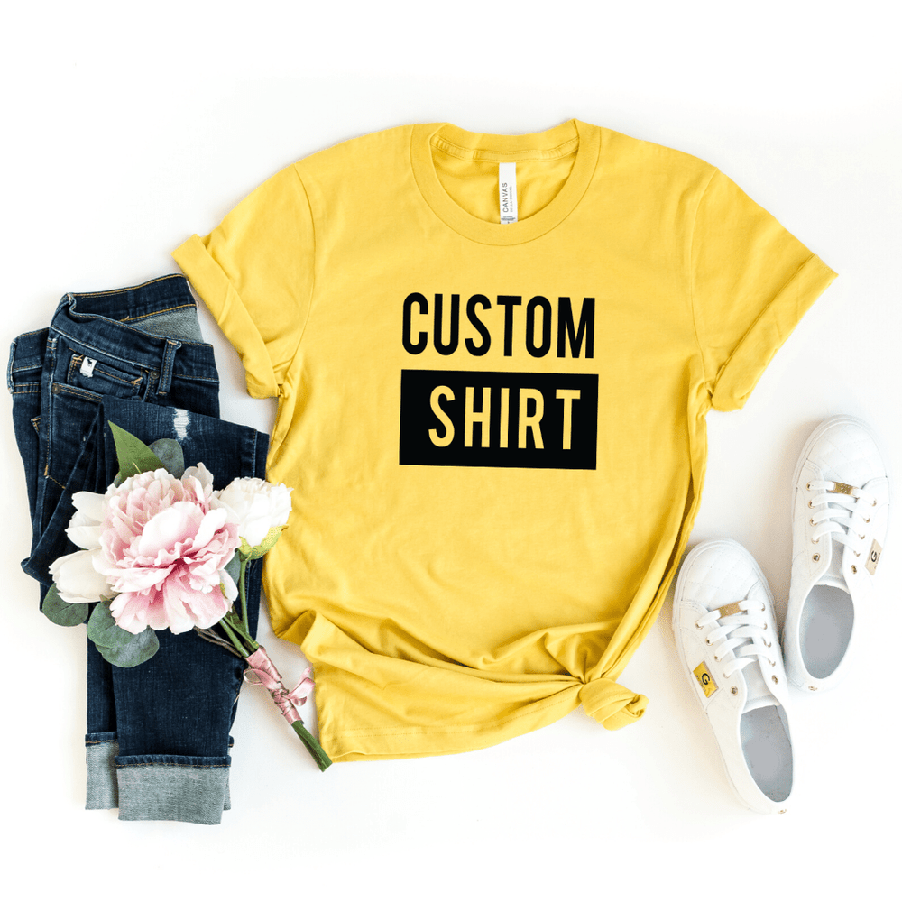 Custom Shirt, Custom Shirts, Custom T-shirt, Personalized T-shirt, Family T-shirt, Family Shirt, Personalized Shirt, Matching Family Shirt, Heather Yellow
