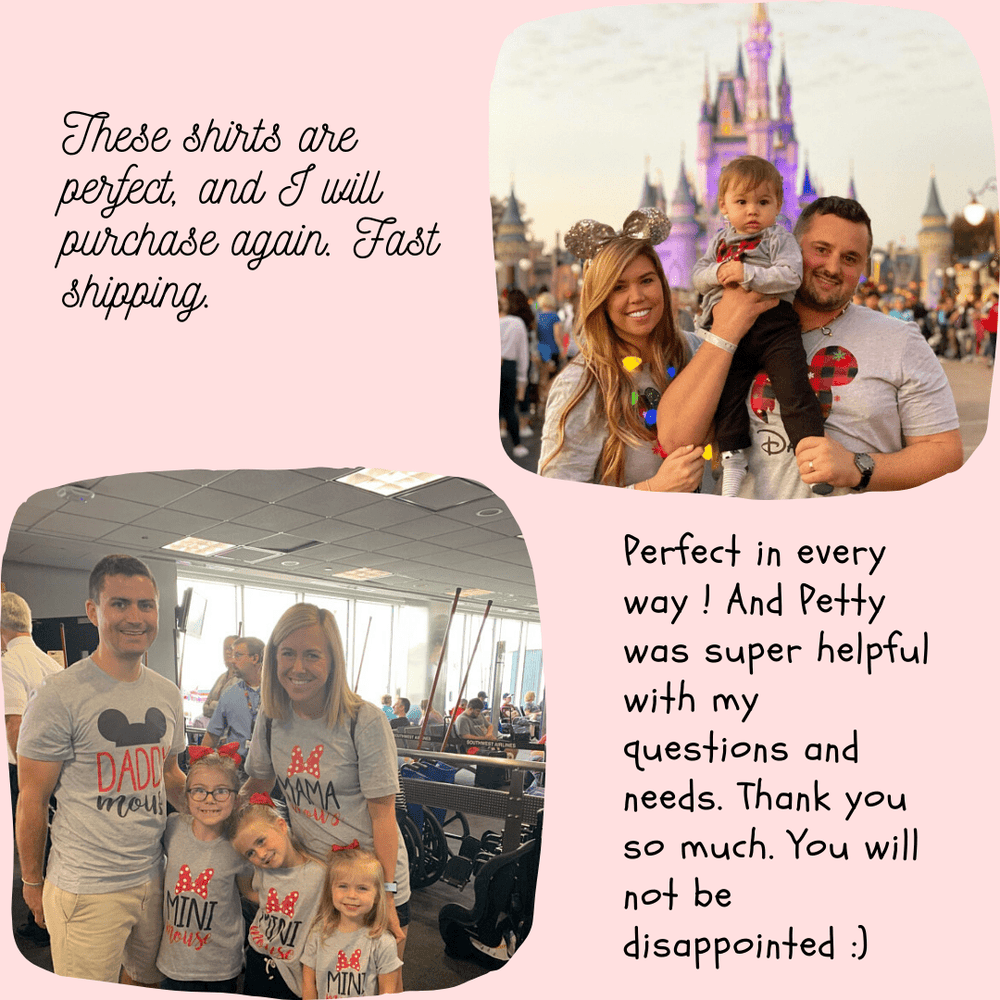 Disney Shirts, Disney Ear Shirts, Disney Castle Shirts, Disney Minnie Mickey Shirts, Minnie Me Shirts, Family Trip Matching Outfit, Custom