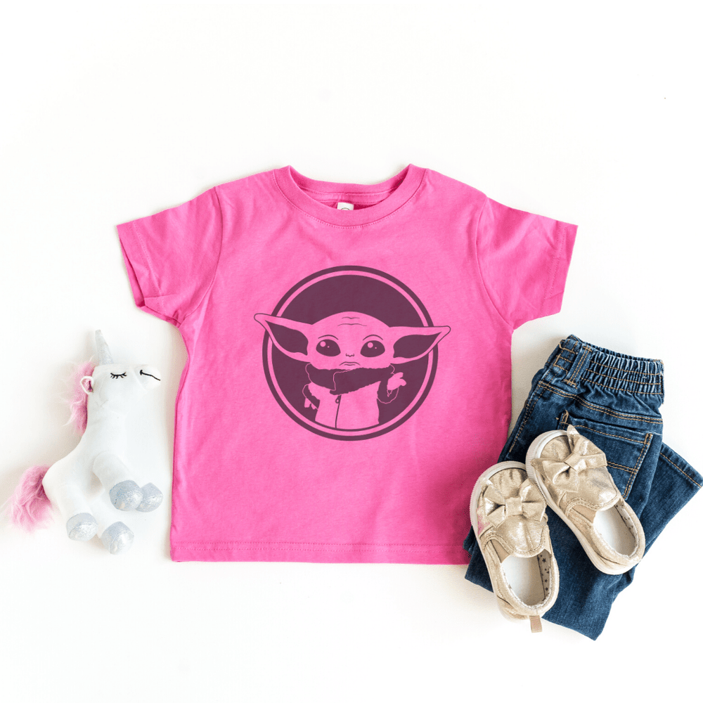 Disney Shirts Star Wars Mandalorian Child, Baby Yoda, Galaxy Edge Shirt, Boba Fett shirt, Raspberry