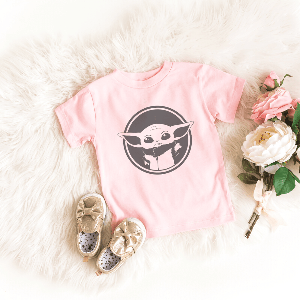 Disney Shirts Star Wars Mandalorian Child, Baby Yoda, Galaxy Edge Shirt, Boba Fett shirt, Pink