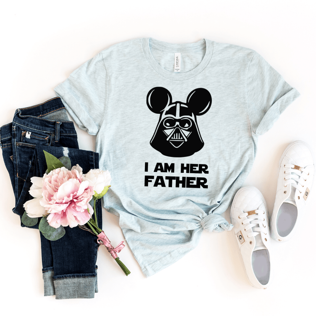 Star wars matching Father Daughter Son trooper matching set, daddy and me Father's day gift T shirt I am your Father-daddy little princess