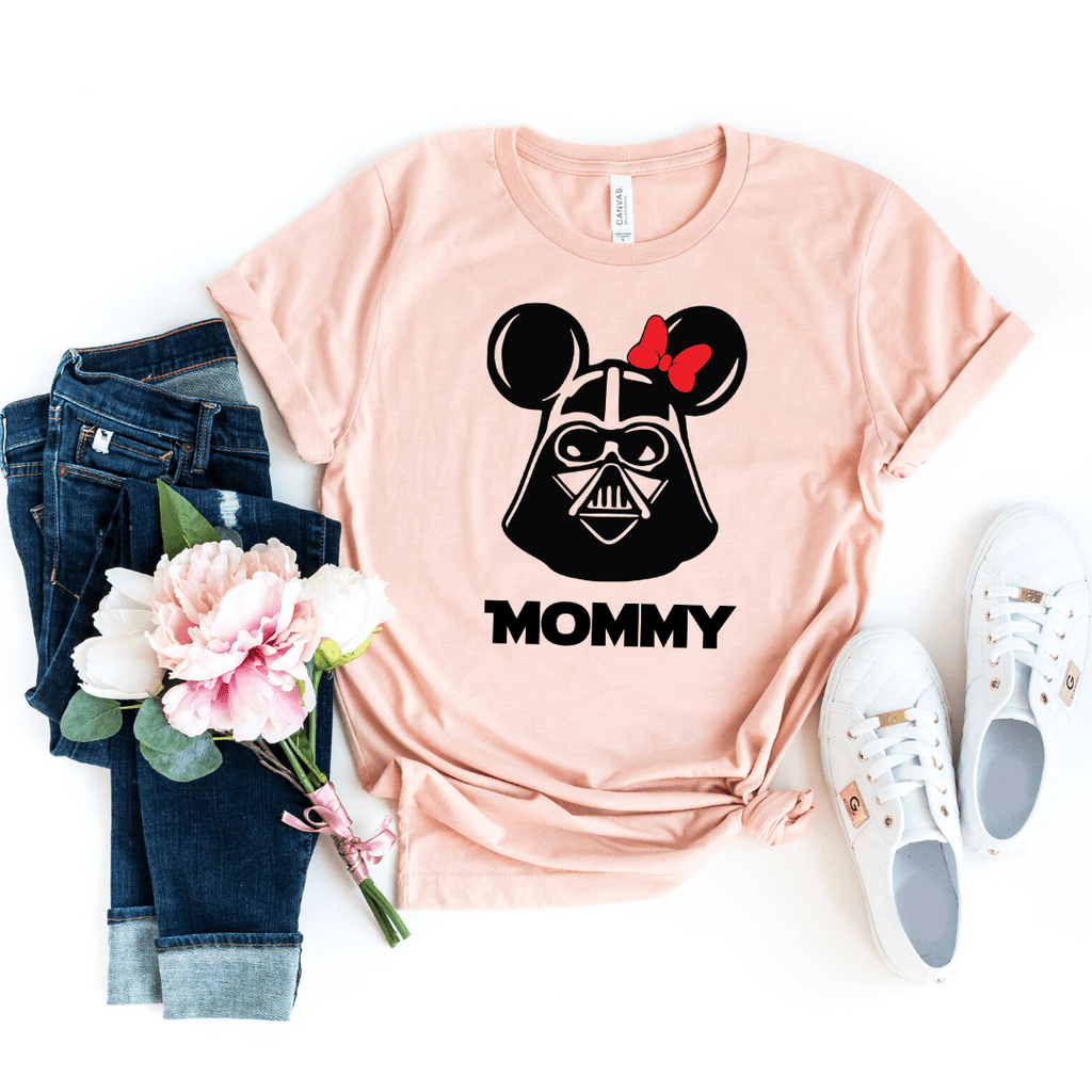 Star Wars Family Shirt, Personalized Star Wars Shirt, Star Wars Vader Tees Darth Vader Star Wars Shirt For family, Heather Peach