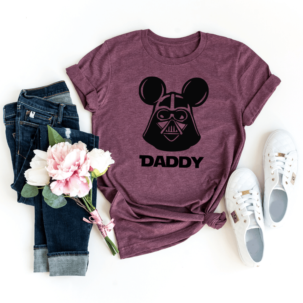Star Wars Family Shirt, Personalized Star Wars Shirt, Star Wars Vader Tees Darth Vader Star Wars Shirt For family, Heather Maroon