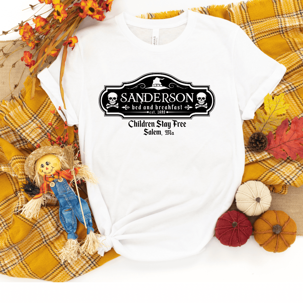 Sanderson Bed & Breakfast Shirt Halloween Movie Shirt It's All Just A Bunch Of Hocus Pocus Shirt Sanderson Sisters Shirt, White
