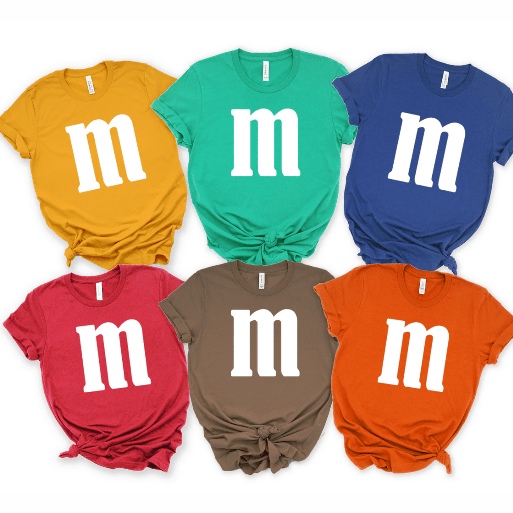 M&M T-Shirts Halloween Group shirts matching Halloween costumes couples squad costume M and Ms group shirts