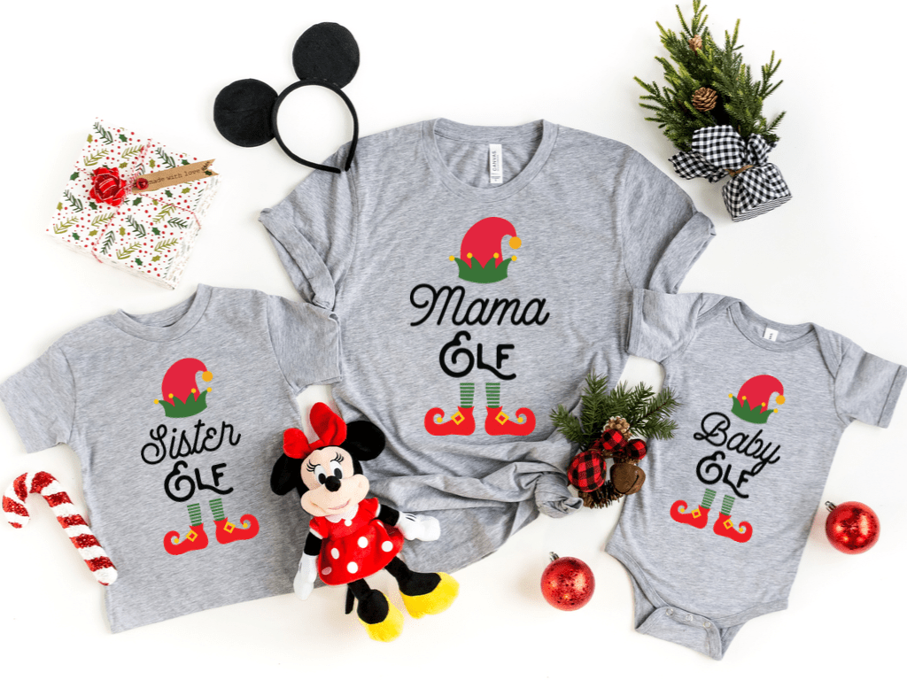 Family Matching Christmas Shirts, Elf Family Shirts, Merry Christmas Santa Shirt, Elf Family Pajamas, Personalized Holiday Gift Pjs, Elf Tee